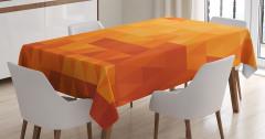 Turuncu Masa Örtüsü Mozaik Görünümlü Retro Stil