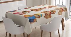 Sevimli Ayıcık Desenli Masa Örtüsü Çocuklara