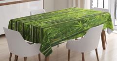 Bambu Ağacı Desenli Masa Örtüsü Huzur Verici