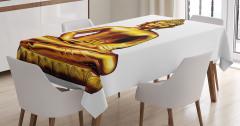 Altın Buda Heykeli Temalı Masa Örtüsü Hint