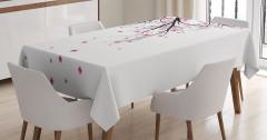 Kiraz Çiçekleri Temalı Masa Örtüsü Şık Tasarım