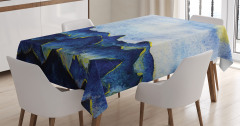 Mavi Tepe Desenli Masa Örtüsü Gökyüzü Doğa