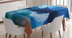 Dalgalı Deniz Temalı Masa Örtüsü Ay Işığı Romantizm