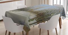 Yağlı Boya Resmi Etkili Masa Örtüsü Eyfel Kulesi