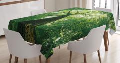 Yeşil Masa Örtüsü Yaşlı Ağaç Gölgesinde Huzur Temalı