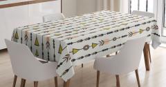Rengarenk Masa Örtüsü Şık Tasarım Modern Sanat