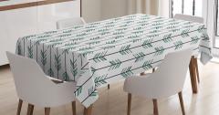 Beyaz Masa Örtüsü Etnik Süslemeler Şık Tasarım