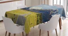 Doğaya Yolculuk Temalı Masa Örtüsü Macera Yeşil