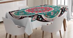 Nostaljik Şal Desenli Masa Örtüsü Rengarenk