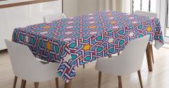 Yıldızlı Şal Desenli Masa Örtüsü Geometrik