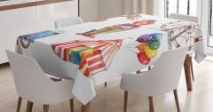 Sirk ve Eğlence Temalı Masa Örtüsü Rengarenk