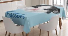 Çocuklar için Masa Örtüsü Yavru Kedicik Desenli Mavi