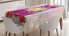 Kedi Severler için Masa Örtüsü Modern Sanat Mor