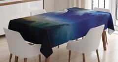 Uzay Temalı Masa Örtüsü Kuyruklu Yıldız Gökyüzü Mars