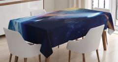 Uzaylı Saldırısı Temalı Masa Örtüsü Dünya Kozmos
