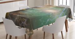 Peri Masalı Temalı Masa Örtüsü Bulut Uzay