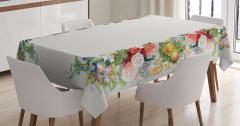 Çiçek Bahçesi Temalı Masa Örtüsü Rengarenk Romantik