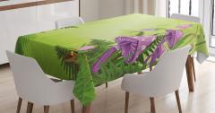 Sihirli Mantar Temalı Masa Örtüsü Çiçek Pembe