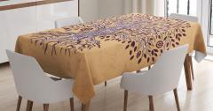 Ağaç Desenli Masa Örtüsü Şık Tasarım Çeyizlik