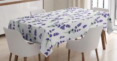 Lavanta Çiçeği Desenli Masa Örtüsü Çeyizlik Mor Şık