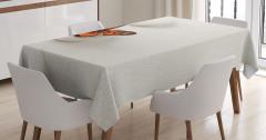 Taş ve Kelebek Desenli Masa Örtüsü Beyaz Şık Tasarım