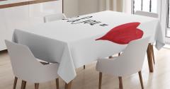 Aşkın Formülü Temalı Masa Örtüsü Kırmızı Beyaz Kalp