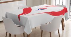 Hayatın Rengi Temalı Masa Örtüsü Romantik Aşk Beyaz