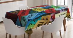 Rengarenk Masa Örtüsü Her Dilde Aşk Temalı Romantik