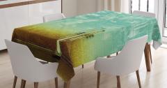 Caz Müzik Severler için Masa Örtüsü Saksafon Yeşil
