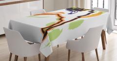 Basketbol Temalı Masa Örtüsü Rengarenk Şık Tasarım