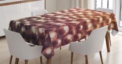 Kahverengi Masa Örtüsü Işıltılı İnci Desenli Trend