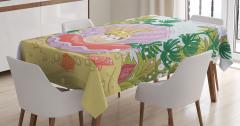 Çocuklar için Masa Örtüsü Prenses İnci ve Balıklar