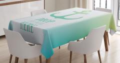 Çapa Baskılı Masa Örtüsü Deniz Yeşil Mavi Trend