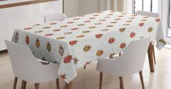 Çocuklar için Masa Örtüsü Renkli Sevimli Uğurböceği