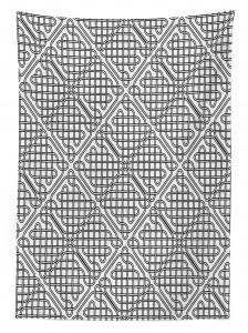 Siyah Beyaz Kafes Desenli Masa Örtüsü Şık Tasarım