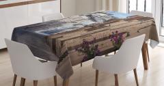 Nostaljik Masa Örtüsü Antik İtalyan Sokağı Temalı