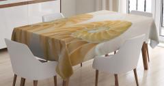 Deniz Kabuğu Desenli Masa Örtüsü Trend Krem Rengi