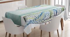 Deniz Kabuğu Desenli Masa Örtüsü Şık Tasarım Trend