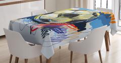 Futbol Temalı Masa Örtüsü Rengarenk Şık Tasarım
