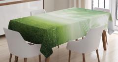Futbol Sahası Temalı Masa Örtüsü Yeşil Saha