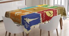 Sporseverler için Masa Örtüsü Nostaljik Logolar