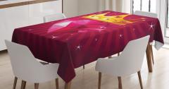 Mor Pırlanta ve Kraliçe Desenli Masa Örtüsü Modern