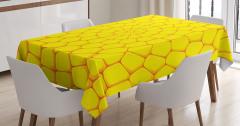 Sarı Masa Örtüsü Mısır Figürleri Şık Tasarım