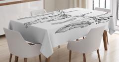 Geyik Desenli Masa Örtüsü Kuş Tüyleri Siyah Beyaz