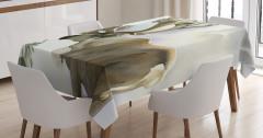 Suluboya Etkili Masa Örtüsü Geyik Desenli Pastel