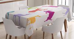 Renkli Geyik Desenli Masa Örtüsü Yaban Hayatı Temalı