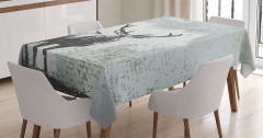Geyik Figürlü Masa Örtüsü Modern Sanat Tasarım