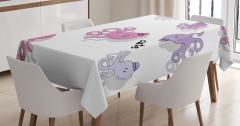 Çocukları için Masa Örtüsü Sevimli Ahtapot Desenli