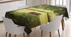Doğada Huzur Temalı Masa Örtüsü Ağaç Gölgesi Yeşil
