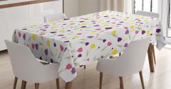 Bahar Temalı Masa Örtüsü Rengarenk Lale Desenleri